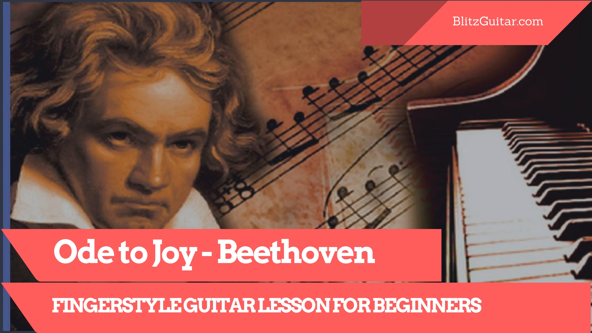 Ode To Joy Ludwig Van Beethoven Fingerstyle Acoustic Guitar Lesson