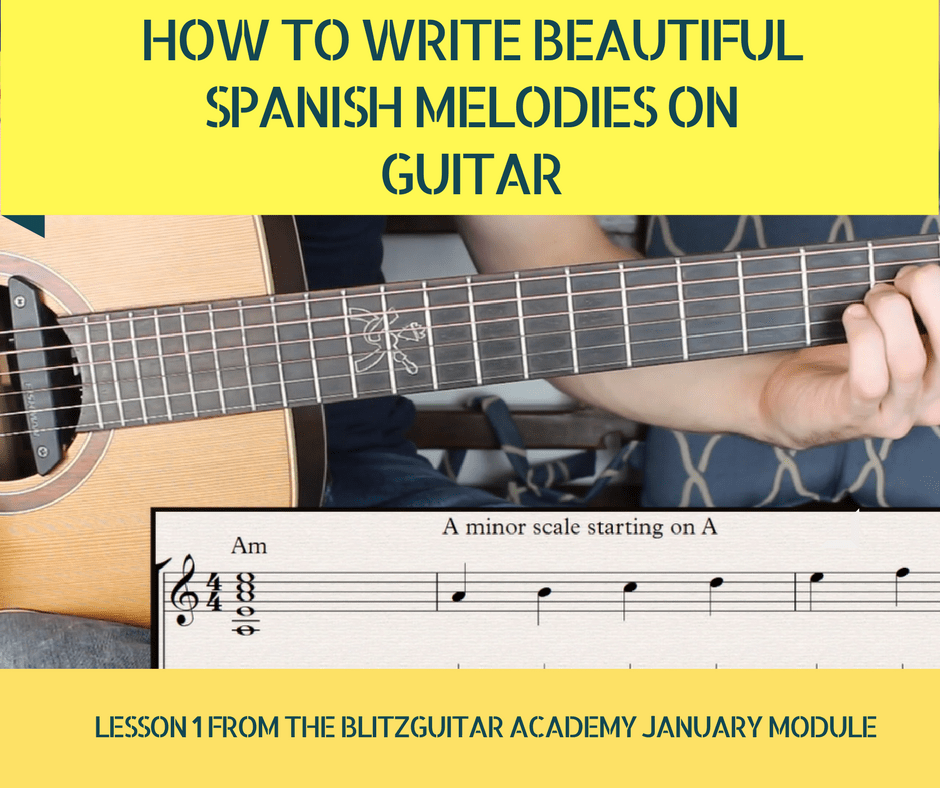 Spanish Melodies on Guitar. How to Write Beautiful Melodies on Guitar.