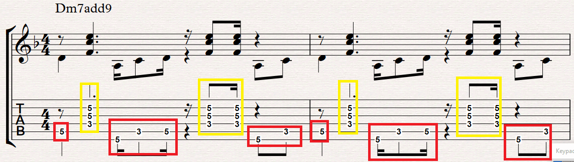 Smooth Jazz Chords Difference between Bass line and min7add9 chord ...