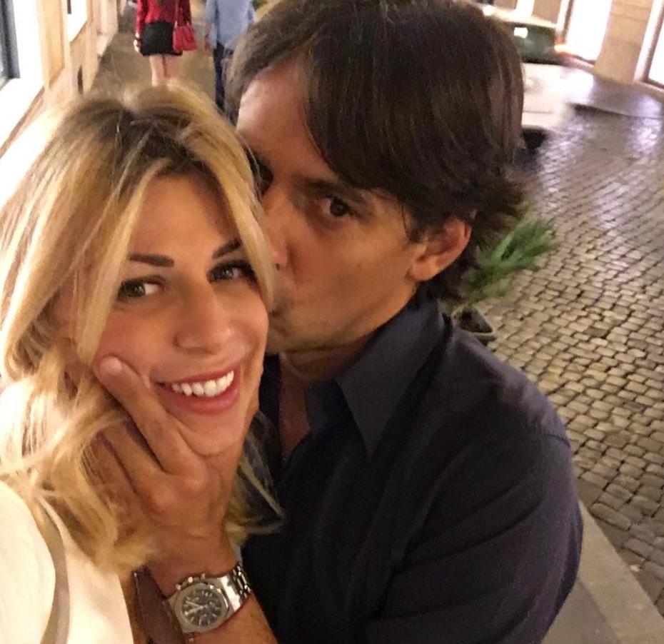 Simone Inzaghi e Gaia Lucariello sposi E Alessia Marcuzzi