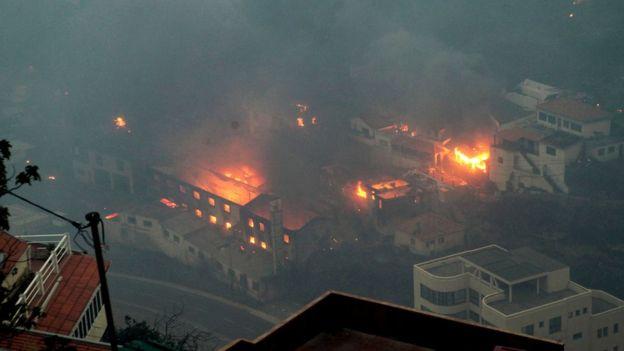 Portogallo incendio Madeira minaccia Funchal YOUTUBE