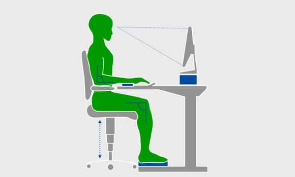 ergonomic chair keyboard position usa office calculate optimal height of the desk