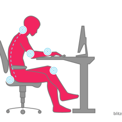Best Posture Work Chair Inflatable Kids Ergonomic Office Calculate Optimal Height Of The Desk Body Is Thus Forced Into A Completely Unnatural Position Above All Lumbar Area And Neck Are Heavily Stressed