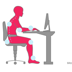 Ergonomic Chair Keyboard Position Child High Office Calculate Optimal Height Of The Desk Area Back Is Not Used Bent Individual Body Points Must Absorb Pressure And Are Thus Subjected To Excessive