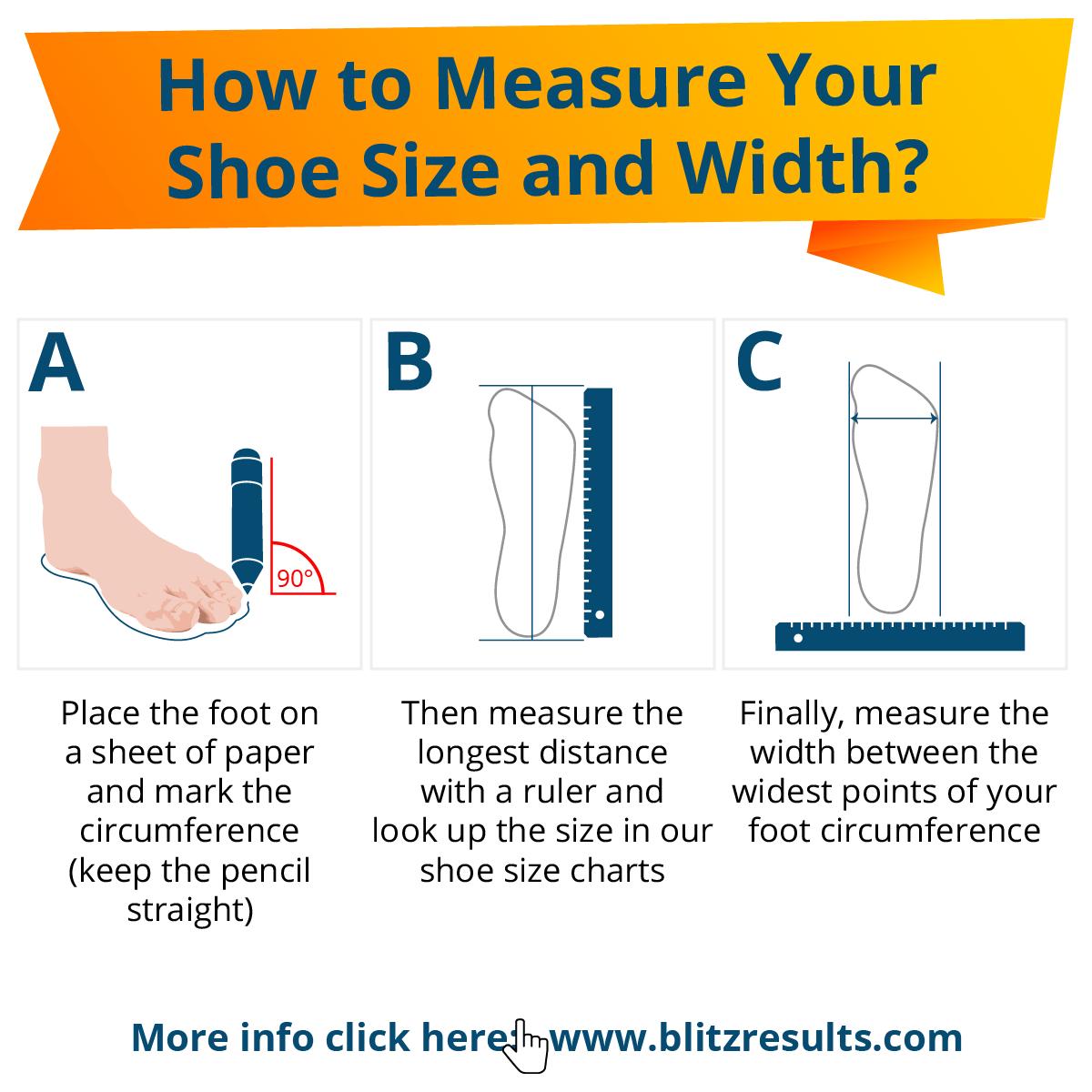 Shoe Sizes Shoe Size Charts Men  Women How to Measure