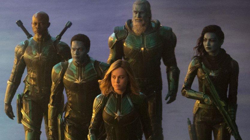 CAPTAIN MARVEL con Brie Larson e Jude Law