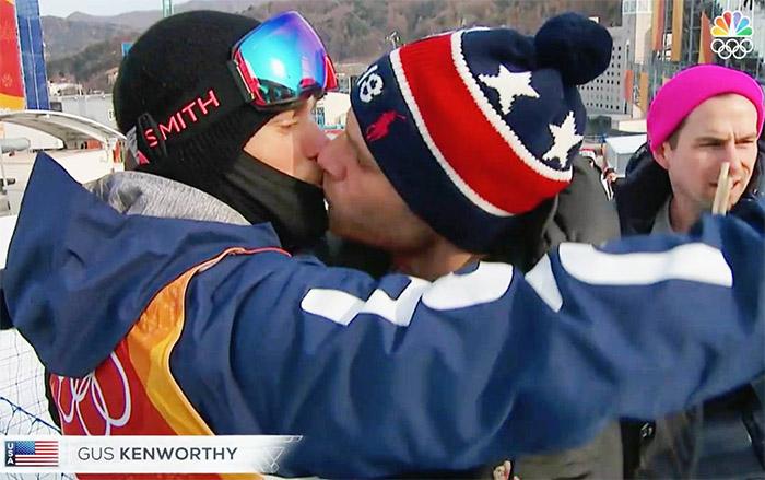 bacio sciatore olimpiadi