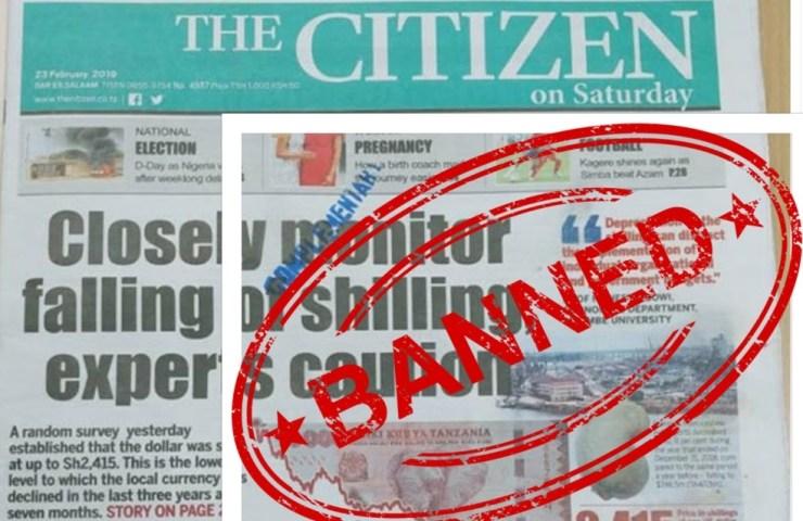 tanzania censura