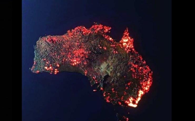 nasa foto incendi australia