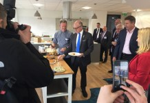 US Ambassador visits Young's Seafood in Grimsby