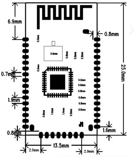 BK3266 40PIN audio data transmission bluetooth module