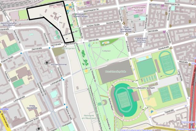 Mauerpark Bebauung