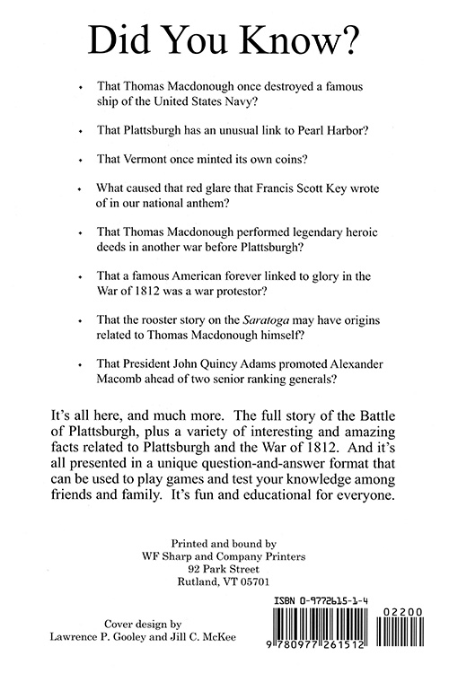 The Battle of Plattsburgh Question & Answer Book