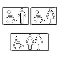 Cartelli per bagno in dwg  BlocchiAutocadit