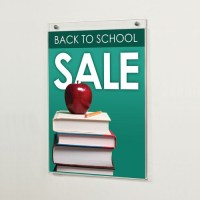 Acrylic Wall Mounted Sign Holder | Block and Company