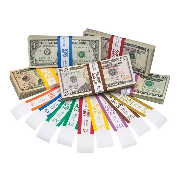 Currency Straps  Solid Color Bar  Block and Company