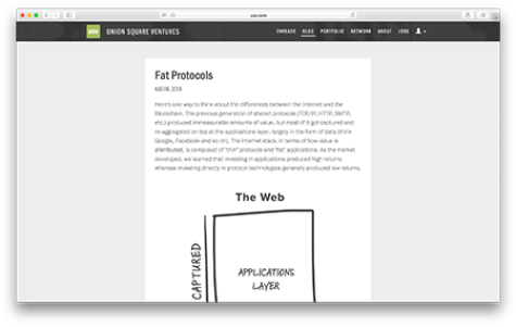 Fat Protocols