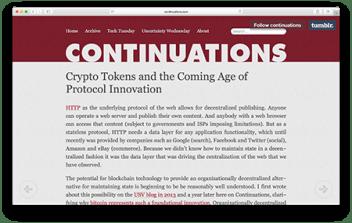 crypto tokens protocol innovation