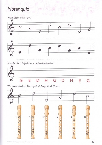 Blockflötenbox Band 1 - Seite 39