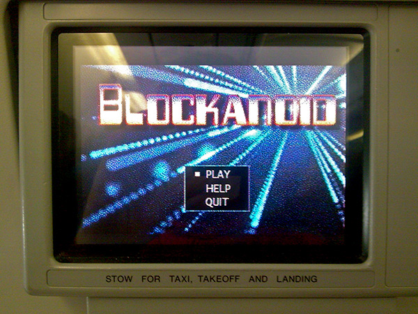 Blockando game, Emirates air plane