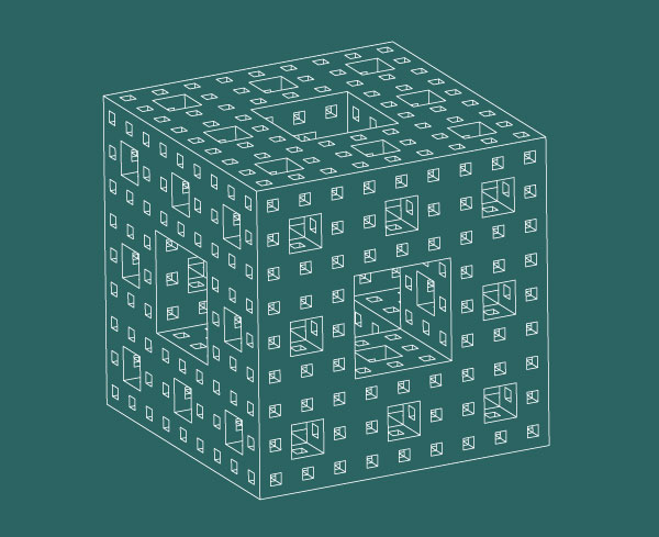 Menger Sponge - Institute for Figuring - 2006