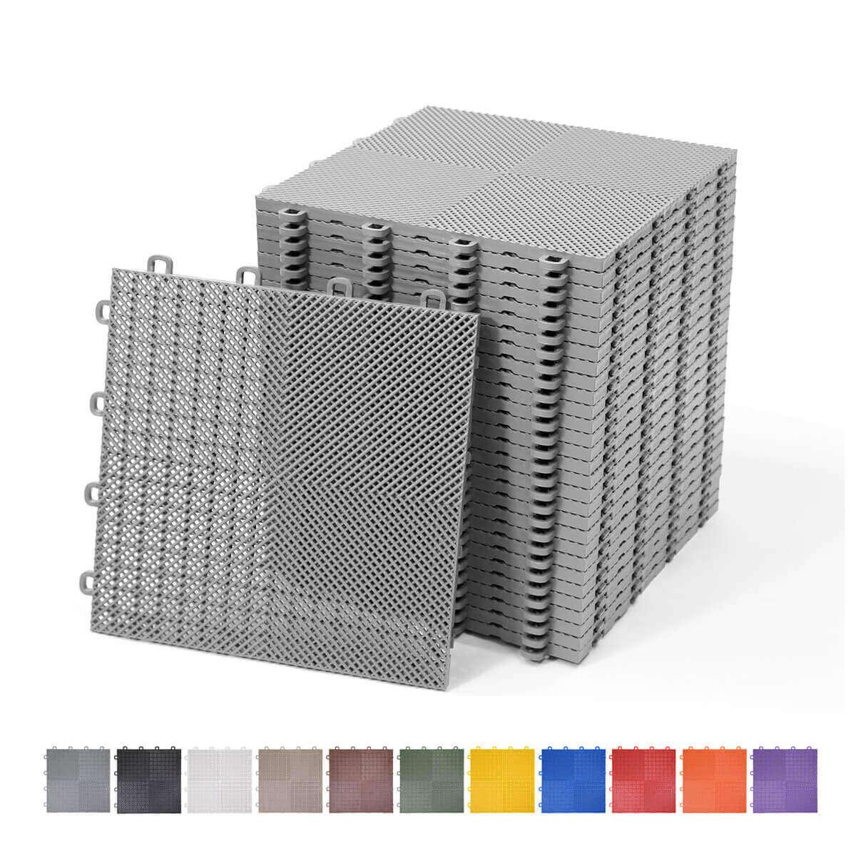 perforated interlocking floor tiles