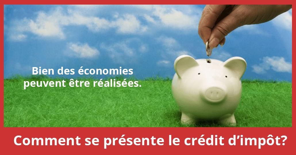 Comment se présente le crédit d'impôt ?