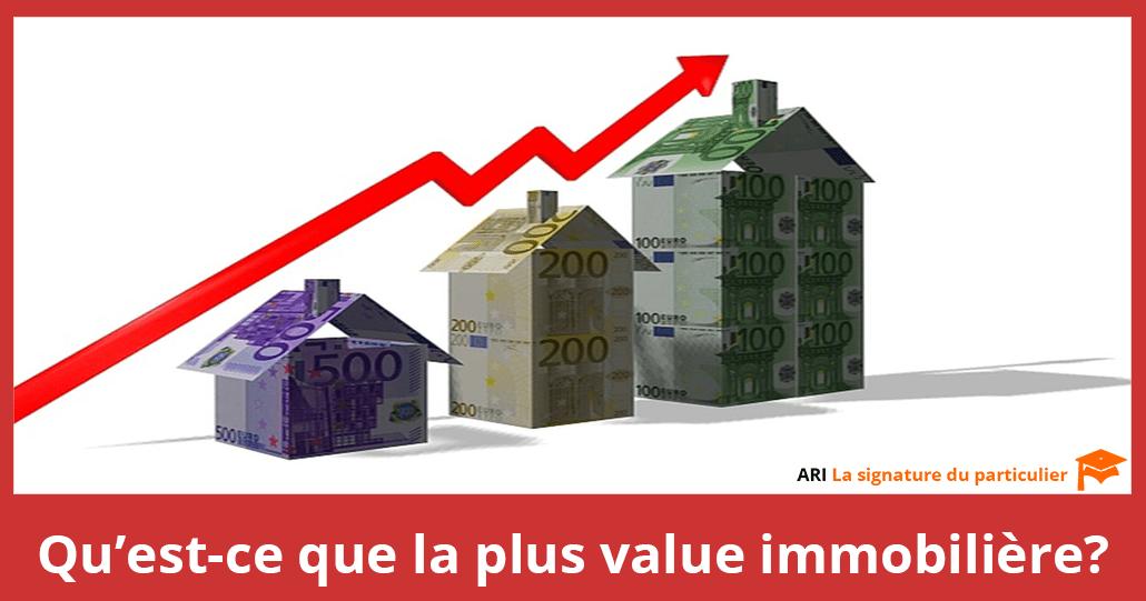 La plus value immobilière
