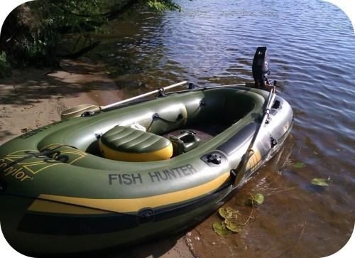 il est préférable d'utiliser un bateau avec moteur