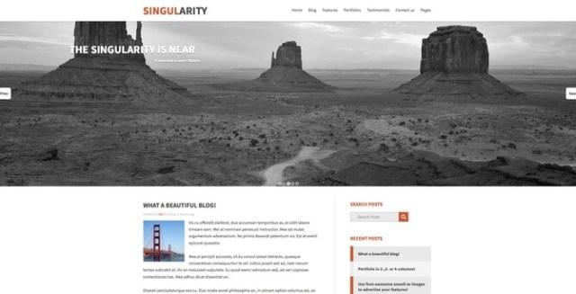 thème Mezzanine CMS Singularity Django