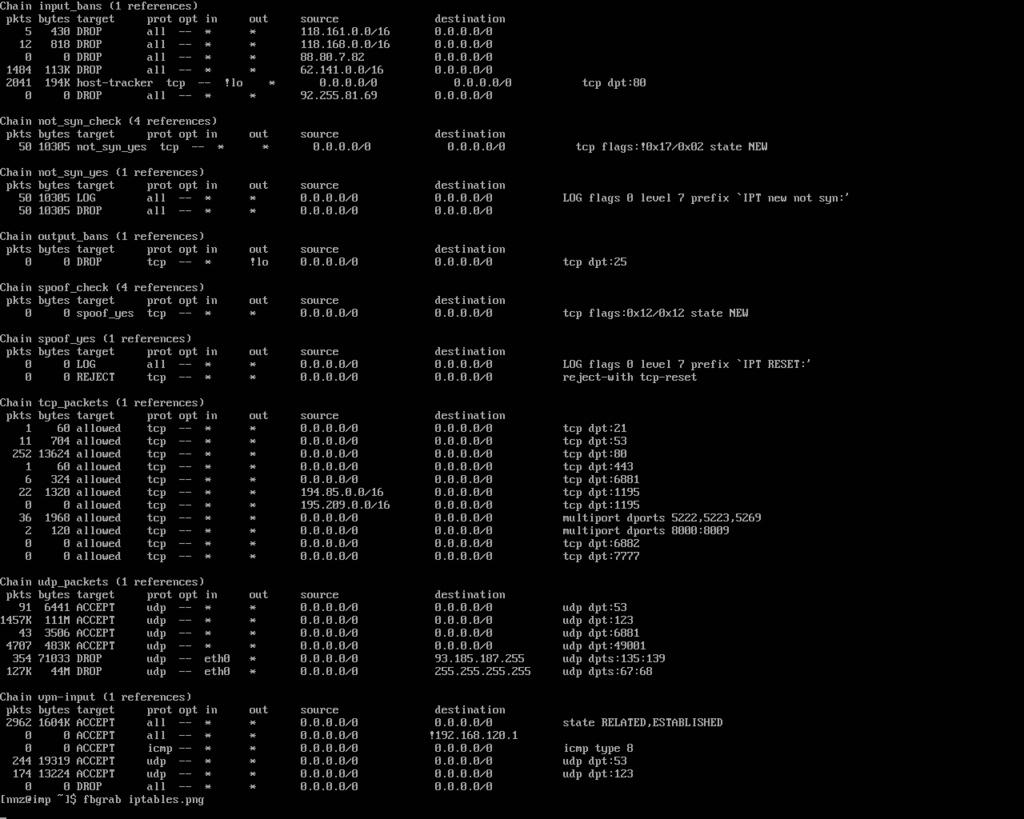 Règles iptables afin de bloquer les scanners SIP