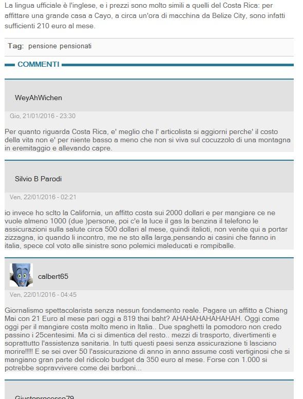 commenti su il giornale
