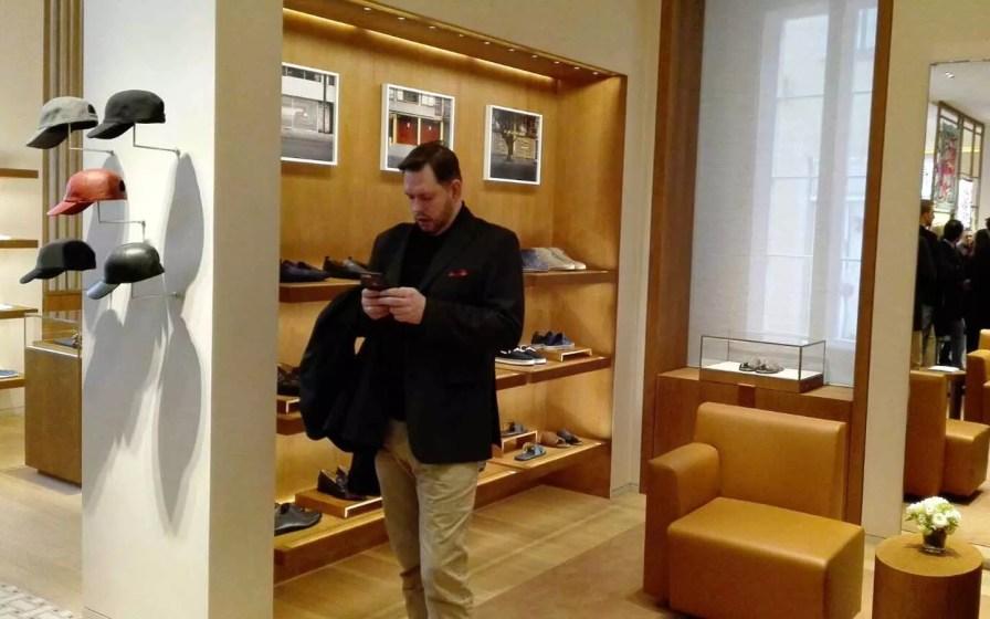 Sascha Walk auf dem Hermès Store Opening