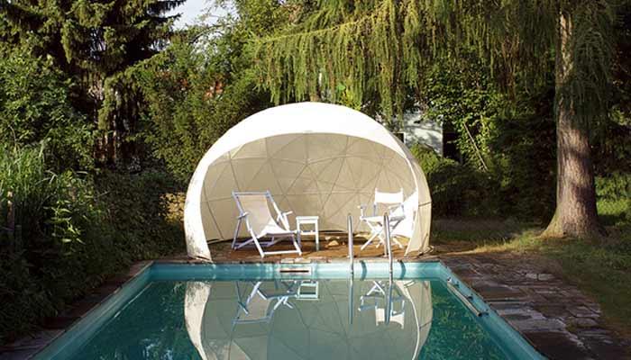 Le jardin dhiver Garden Igloo un abri de jardin design et contemporain
