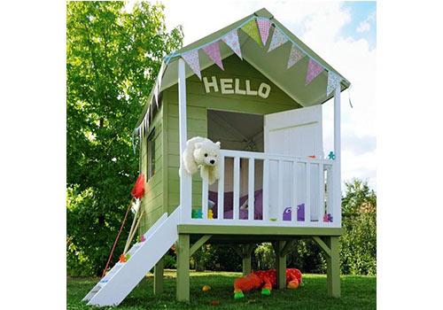 personnaliser la cabane en bois des enfants