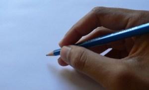 tenir le crayon