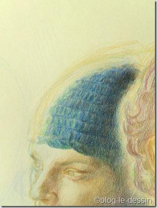 portrait au crayons de couleur 2