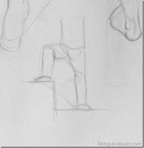 dessiner les pieds