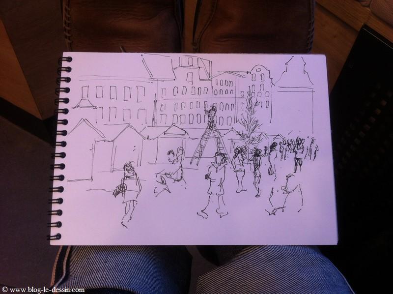 L'étape finale pour apprendre à dessiner une foule est de tracer quelques personnes précisément