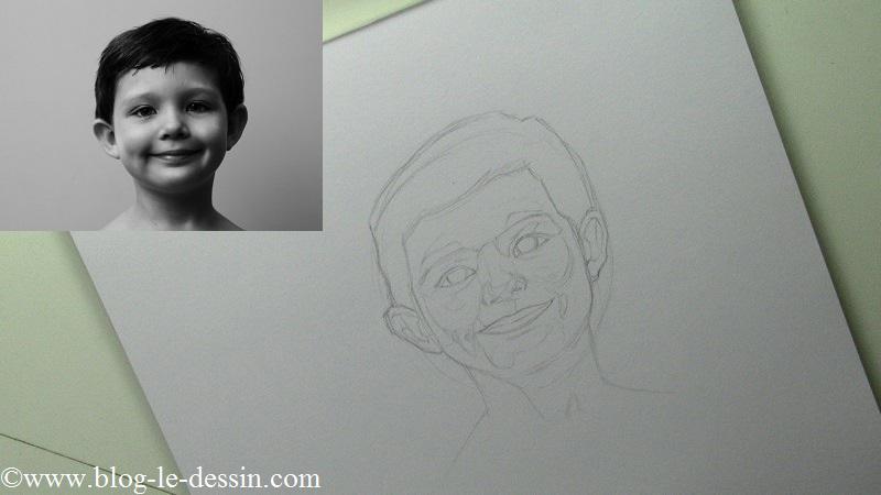 Cette étape n'est pas toujours indispensable mais elle permet d'avoir une meilleure estimation des zones de gris sur le portrait.