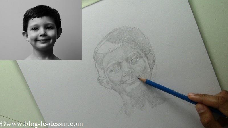 Une de mes phases préférées lorsque je dessine un portrait ! Commencer à unifier les gris !