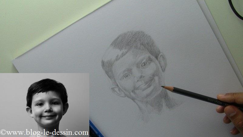 Vous remarquez la différence de contraste saisissant entre le regard et le reste du portrait.