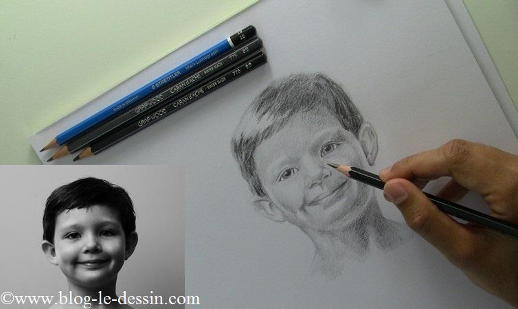 Pour apprendre à bien utiliser le crayon 9B et dessiner un portrait réaliste, sachez appuyer sur de très petites zones du dessin.