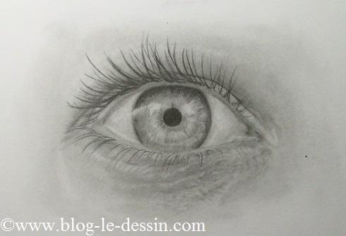 Le dessin terminé de l'oeil que j'ai dessiné dans ce tutoriel.