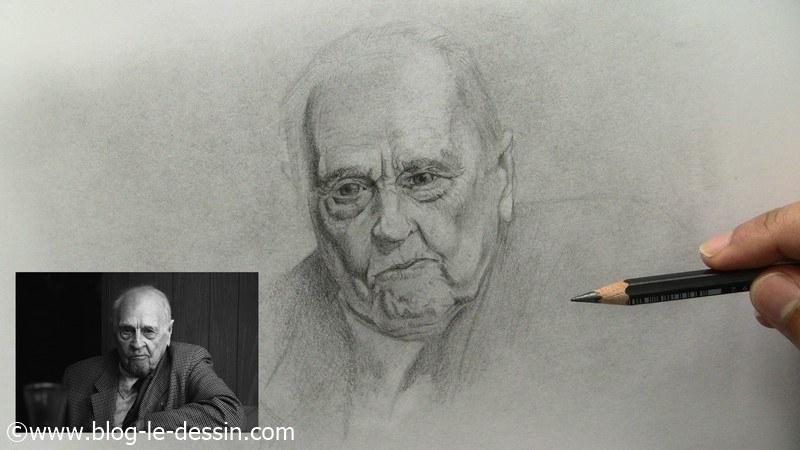 portrait noir et blanc etape intermediaire