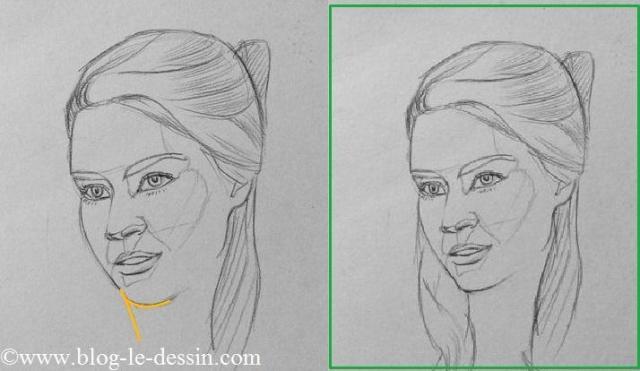 planche ligne cou machoire comment dessiner un visage