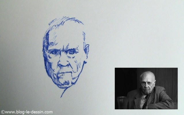 dessin stylo plume portrait partie 4