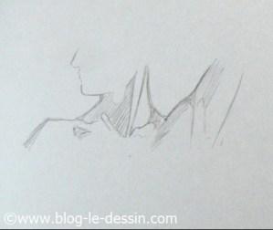 dessiner cou épaules tete tournee buste face