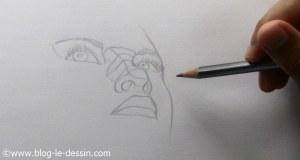 dessiner un nez realiste en contre-plongée structure
