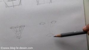 dessiner un visage proportions position de bouche et nez